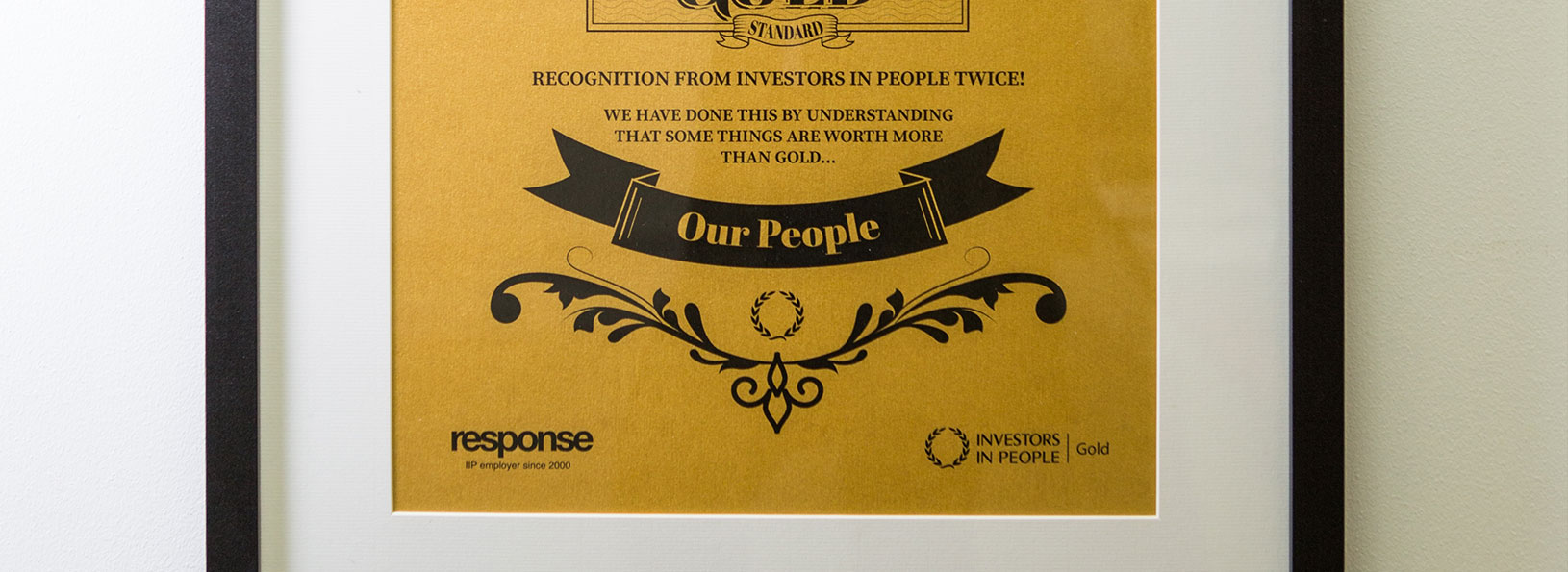 Response Investors in people gold award
